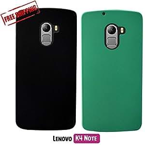 For Lenovo K4 Note[COMBO OFFER]: Unistuff™ Matte Finish Hard Case Back Cover for Lenovo K4 Note[SLIM FIT][FREE SHIPPING] (Black, Green)