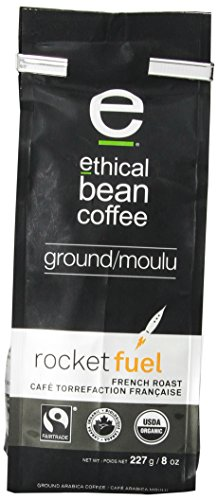 Ethical Bean Coffee Rocketfuel French Roast, Ground, 8-Ounce
