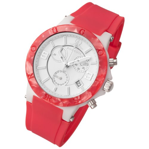 Rougois Pop Series Pink Colorful Silicone Band Watch