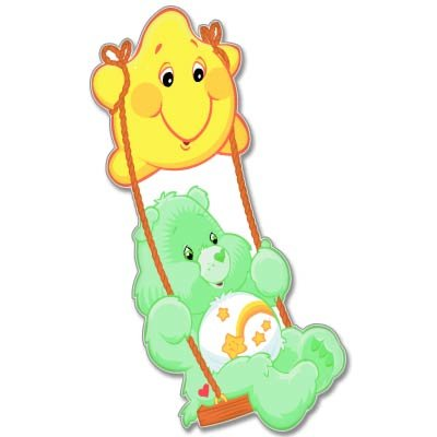 Care Bears Wish Bear Kids Vynil Car Sticker Decal - Select Size front-648870
