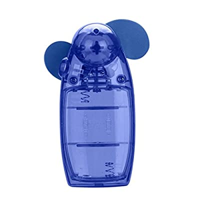 Dreaman Portable Handheld Mini Air Conditioner Cooler Fan Battery Blue