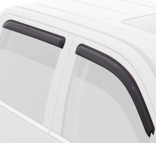 Outside Mount Window Visor 2 Pcs Dark Smoke for 2010-2013 Ford Transit Connect