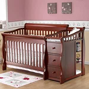 Sorelle Baby Furniture Sorelle Tuscany Collection 4 1 Crib In Cherry Baby
