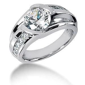 Men s Diamond Ring 1 Round Stone 2.50 ct 2 Round Stone 0.06 ct 6 Round Stone 0.05 ct 2 Round Stone 0.02 ct Total 2.96 ctw 162-MDR1335 - Size 12