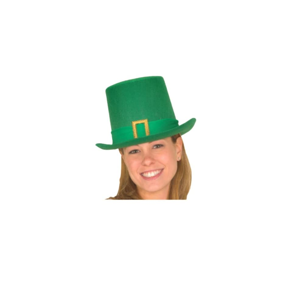 Jacobson Hat Company Men's Felt St. Pats Tall Hat, Green, One Size Clothing