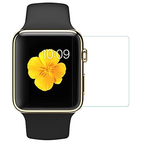 MYLB 0.33mm 9H Premium Tempered Glass Screen Protector for Apple iphone,iphone 4,iphone 5,iphone 5c,iphone 6,iphone 6s,iphone 6 plus,iphone 7...Apple ipad 2,ipad 3,ipad 4,ipad air,ipad air 2,ipad mini,ipad mini 2,ipad mini 3,ipad mini 4...ipod 5,ipod 6..apple watch(42mm),Apple watch(38mm)...(Transparent) (Apple watch(42mm))