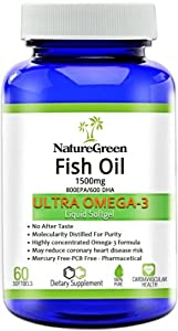 Fish oil omega 3 capsules 1500mg liquid pills for Fish oil weight loss