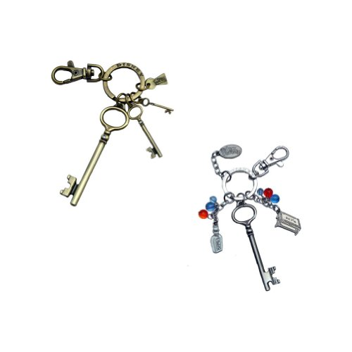 Bundle - 2 Items: Alice in Wonderland Movie Keychains