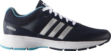 Adidas Performance Women's Cloudfoam VS City W Running Shoe, Collegiate Navy/Matte Silver/Vapor Blue Fabric, 7.5 M US