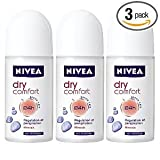 Nivea Dry Comfort Deodorant Antiperspirant Roll-on 50 ml (3-Pack)