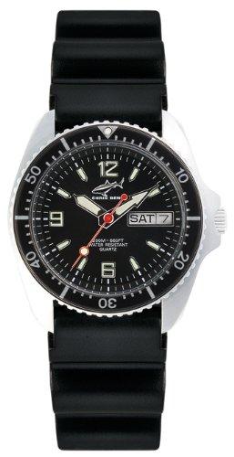 Chris Benz CBM.S.KB.SW - Reloj analógico de cuarzo unisex con correa de caucho, color negro