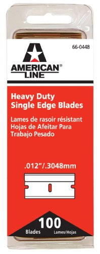 American Safety Razor 66-0448 Heavy-Duty Single Edge Razor Blades, 100-Pack