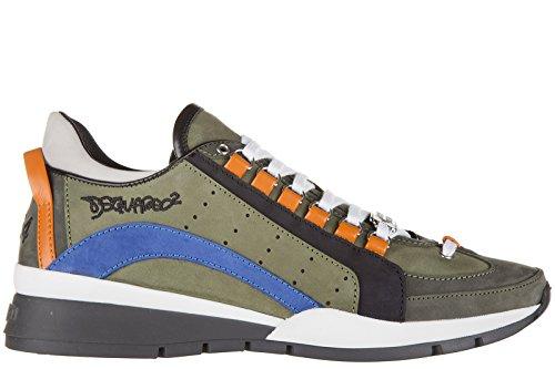 Dsquared2 Herrenschuhe Herren Leder Schuhe Sneakers 551 Grün EU 42 W16SN404097M414 thumbnail