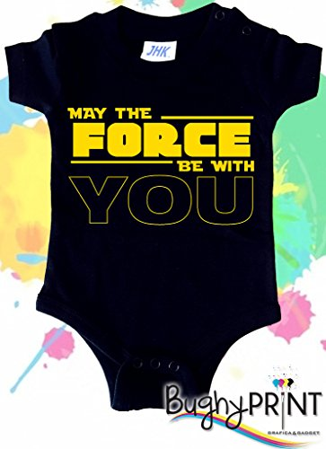 BODY tutina pagliaccetto bimbo neonato Star Wars Darth Vader May the force be with you 6 mesi