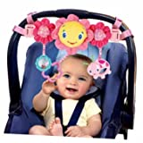 Heartwarming Bright Starts Pretty In Pink Carrier Toy Bar - Cleva Edition ChildSAFE Door Stopz Bundle