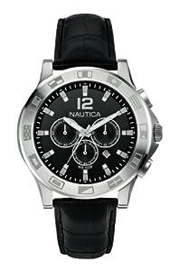 Nautica Men's Quartz Watch A21548G with Leather Strap