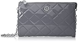 Armani Jeans V4 Quilted Patent Crossbody Bag, Grey, One Size