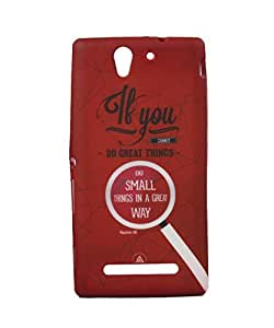 Exclusive Rubberised Back Case Cover For Sony Xperia C3 C 3 - Thing Great Way