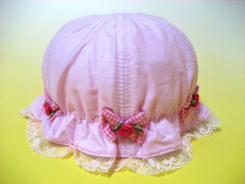 お姫様風ベビー帽子/子供用帽子/UVカット帽子/日よけ帽子