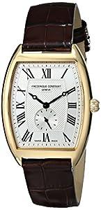 Frederique Constant Men's FC235M3T25 Art Deco Analog Display Swiss Quartz Brown Watch