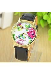 GENEVA Watches Women Rose Flower Jewellery ladies stylish casual watch Quartz Watches