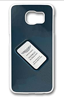 buy S6 Case,Hard Shell Plastic Pc [White] Cover Snugly Sleek Slim Light Weight Frosted Colorful Vibrant Fit Headphones Port Male Gift Samsung Galaxy S6-Aston Martin Vantage Symbol