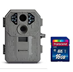 Stealth Cam STC-P12 6.0 Megapixel Digital Scouting Camera, Tree Bark, Right + Compatible High Speed Transcend 16 GB Class 10 SD Card Bundle