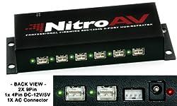 NitroAV 8-Port FireWire 800/1394b Professional Hub/Repeater
