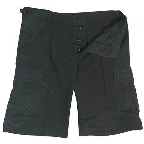 mens-designer-fashion-army-military-cargo-walk-shorts-pants-prewash-black-xxl