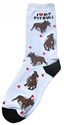 I Love My Pitbull Women Socks Cotton New Gift Fun Unique Fashion