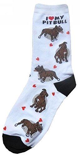 I Love My Pitbull Women Socks