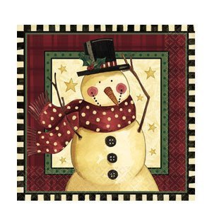 Cozy Snowman Dinner Napkins (16ct)