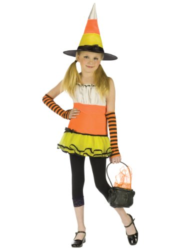 Girl's Cany Corn Witch Costume by Fun World