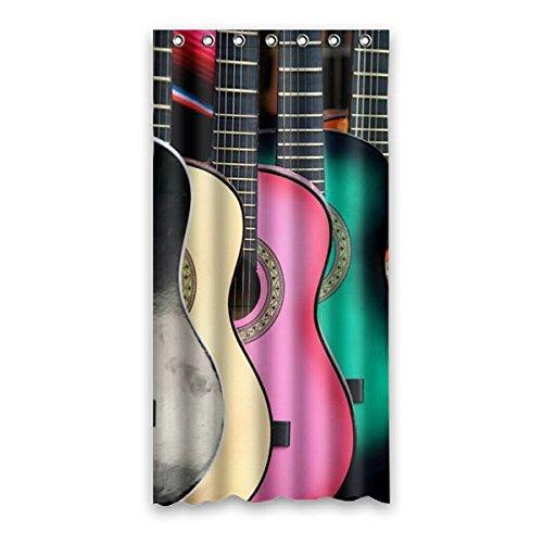 90-cm-x183-cm-36-x72-Bad-Duschvorhang-eine-kundenspezifische-Gitarrenmusik-Festival-gemusterten-Duschvorhang-Polyester-Vorhang-Raum