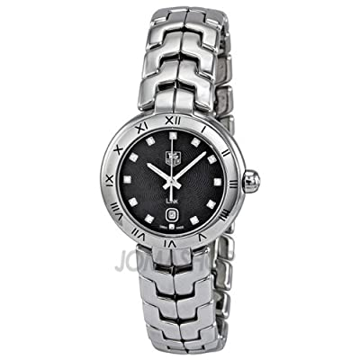 Tag Heuer Link Diamond Black Guilloche Dial Steel Ladies Watch WAT1410.BA0954 by Tag Heuer