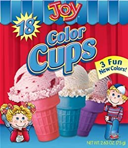 Joy, Color Cone Cups, 18 Count, 2.63oz Box (Pack of 4)
