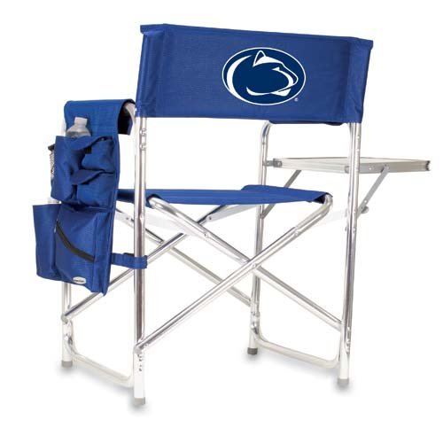 Penn State Nittany Lions Portable Folding Sports Chair - Navy W/Embroidery