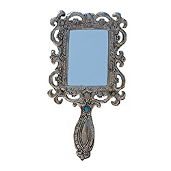 Handicrafts Paradise Hand Mirror in Metal