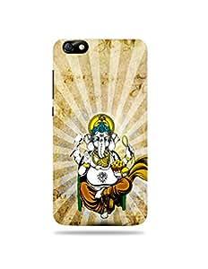 alDivo Premium Quality Printed Mobile Back Cover For Huwaei Honor 4X / Huwaei Honor 4X Printed Lord Ganesh Mobile Case / Cover (MKD075)