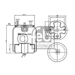 Febi Bilstein 35678 Boot, air suspension