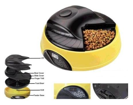 4 Meal Automatic Pet Feeder for Dogs and Cats