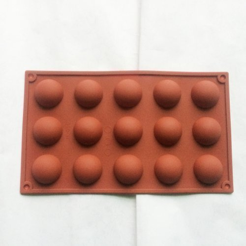 15 cavity 3D Semi Sphere Half Round Silicone Bakeware Candy Mold Cookie Chocolate teacake Fondant tray 29.8*17.4*1.9CM