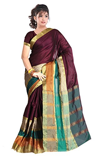 A G Lifestyle Women's Silk Saree (AGC204_Multi-Coloured)
