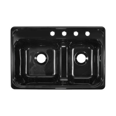 "Fantastic Deal! Deluxe 33"" x 22"" x 10"" Kitchen Sink Finish: Black"