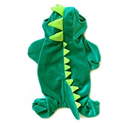Arrival Green Dinosaur Cotton Pet Dogs Clothes Coat