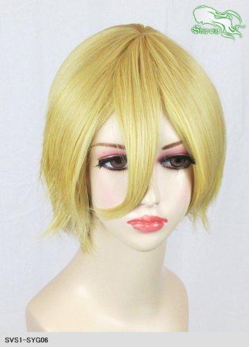 スキップウィッグ 魅せる シャープ 小顔に特化したコスプレアレンジウィッグ マニッシュショート イエローゴールド