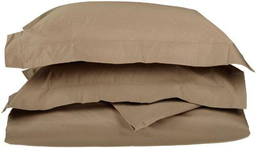 Impressioni 1200 Premium cotone egiziano set lenzuola, copripiumino per letto Solid_P, cotone, taupe, Re / California King