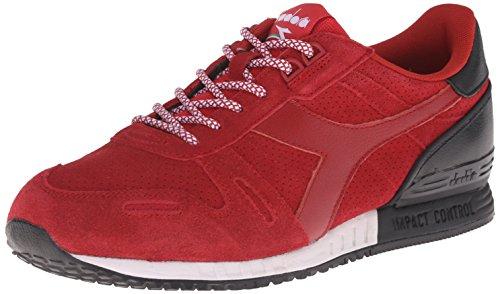 Diadora Men's Titan Suede Fashion Running Shoe, Chili Pepper Red, 11 M US