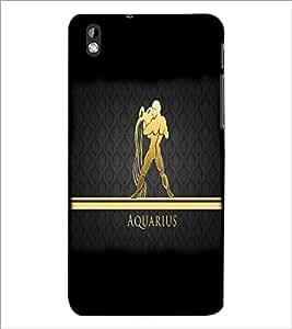 PrintDhaba Zodiac Aquarius D-4302 Back Case Cover for HTC DESIRE 816 (Multi-Coloured)