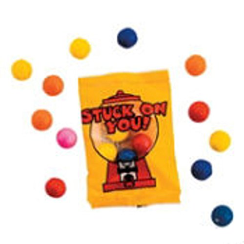 20 Stuck on You Valentine Gumball Candy Fun Packs